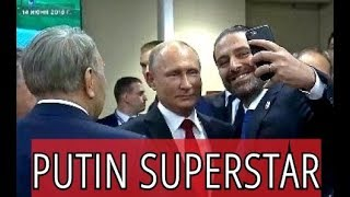 ⚽ 2018 FIFA World Cup 🏆 Putin Superstar: Everybody Wants To Take Selfie Or Chat With The Boss