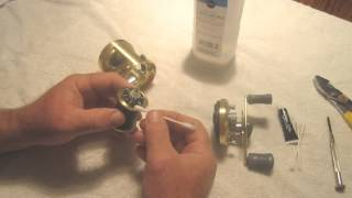 Basic cleaning and maintenance of a round bait casting reel  Shimano