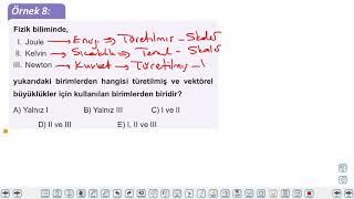 Eğitim Vadisi TYT Fizik 1.Föy Fizik Bilimine Giriş - Kuvvet ve Hareket 2 (Fiziksel Niceliklerin Sınıflandırılması) Konu Anlatım Videoları