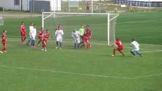 preview picture of video 'MFK Slovan Sabinov - FK Čaňa, starší dorast, gól domácich'