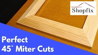 How to Cut a Perfect 45 Degree Angle to Make a Picture Frame