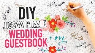 DIY Custom Jigsaw Puzzle WEDDING GUESTBOOK - HGTV Handmade
