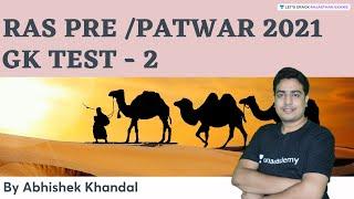 GK Test   Part 2   RAS Pre/PATWAR 2021   By Abhishek Khandal