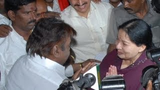 Amma Jayalalitha & captain Vijayakanth quarrel in TN Assembly!!