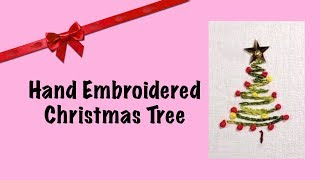 9. Christmas Tree Small Hand Embroidery