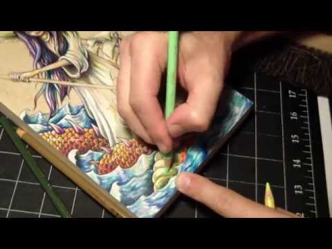 Time lapse Prismacolor pencil and acrylic painting on wood ...