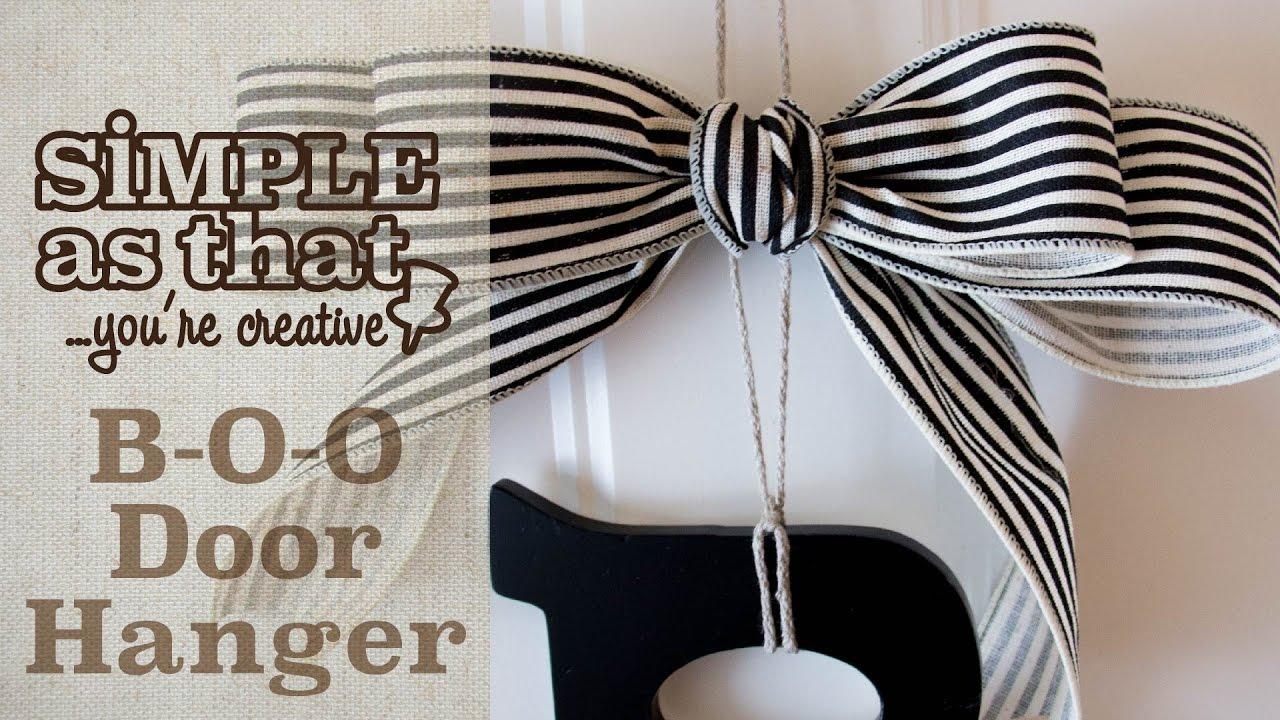 B-O-O Door Hanger