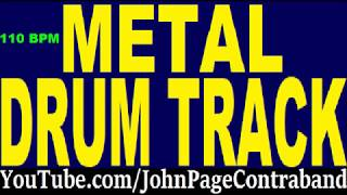 Metal Drum Backing Track 110 bpm DRUMS ONLY