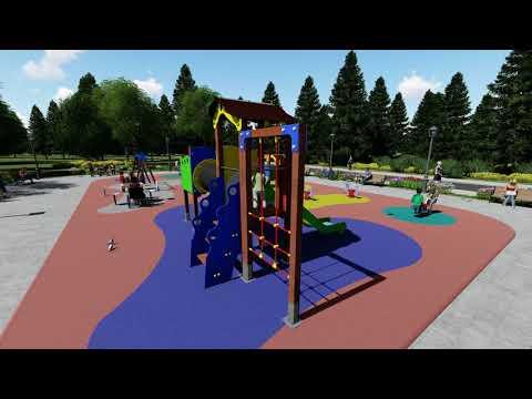 Mesas de juegos de exterior para parques infantiles