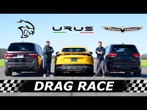 Download Dodge Durango Hellcat vs Lamborghini Urus vs Jeep Trackhawk // DRAG & ROLL RACE HD Mp4 3GP Video and MP3