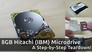 Herunterfahren eines Hitachi (IBM) Microdrive: Schritt-für-Schritt-Video