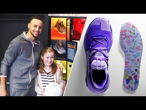 6df74a7610a9 9-Year-Old Fan Designs Steph Curry s New Sneakers for Girls