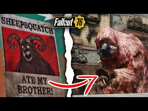 Fallout 76 Players Just Discovered New Legendary Vendor, & Sheepsquatch Quest Details!