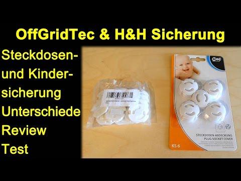 OffGridTec & Hartig + Helling Sicherung Steckdose / Kindersicherung / Steckdosenschutz Test