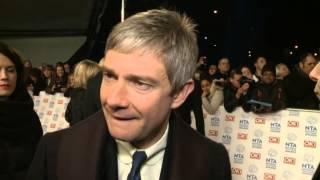 """NTAs: Interview de Martin Freeman sur le tournage de Sherlock et de la trilogie du """"Hobbit"""""""