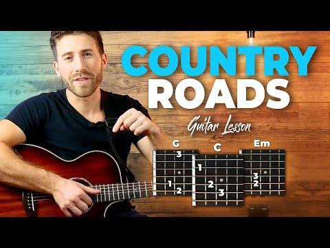 Take Me Home Country Roads Guitar Tutorial (John Denver) Easy Chords Guitar Lesson
