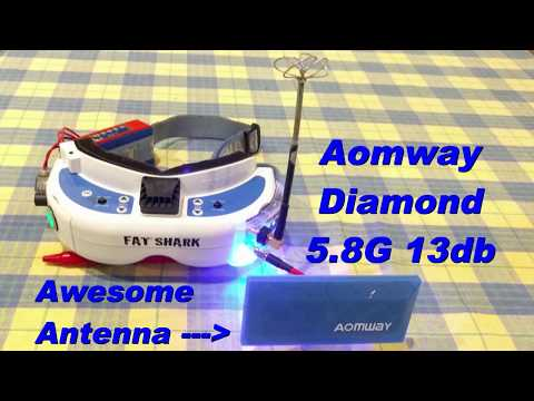 Aomway 5.8G 13db Diamond Antenna from Banggood - Review - Best Antenna For Longer Ranges