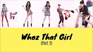 "[VOSTFR- color coded - Romanization] EXID- ""Whoz That Girl (part2)"" (Hippity Hop )"