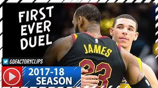 LeBron James vs Lonzo Ball FIRST Duel Highlights (2017.12.14) Lakers vs Cavaliers - SICK!