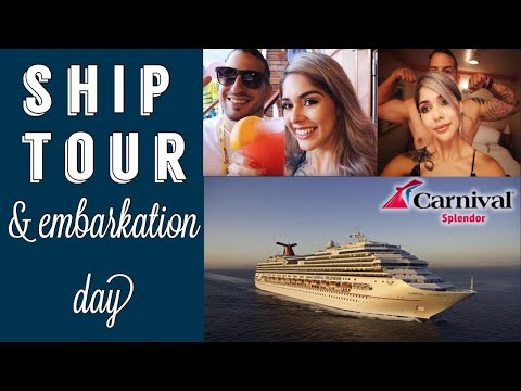 CARNIVAL SPLENDOR TOUR & EMBARKATION DAY! CRUISING TO THE MEXICAN RIVIERA