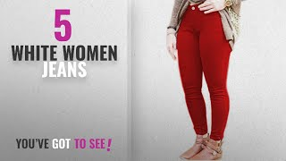 Top 10 White Women Jeans [2018]: Vanilla Inc Ladies Womens Skinny Plus Size Stretchy Fitted Jeggings