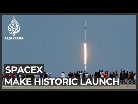SpaceX and NASA astronauts make historic launch