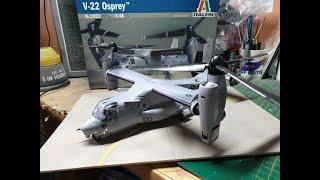 Italeri 1/48 Bell-Boeing V-22 Osprey Plastic Model Build
