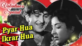 Pyar Hua Ikraar Hua - Raj Kapoor & Nargis - Shree 420 - Bollywood Evergreen Songs - Manna Dey & Lata