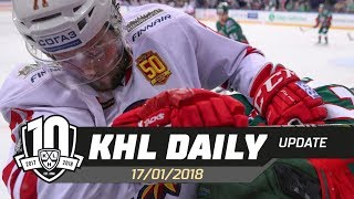 Daily KHL Update - January 17th, 2018 (English)