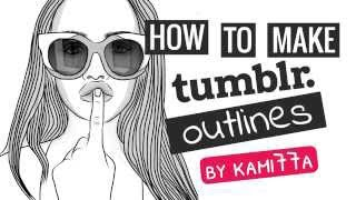 How To Make Tumblr Outlines On IPad/iPhone In Adobe Draw. Joanna Kuchta