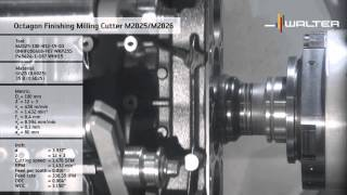 Walter M2025 and M2026 finishing face mill – for excellent surface finish quality. Face mills.