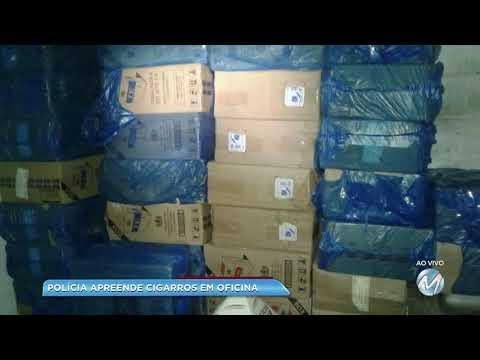 Polícia encontra cigarros contrabandeados em oficina em Alpinópolis