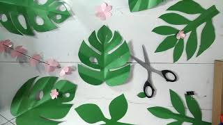 Monstera Paper Leaves Tutorial| Ide Kreatif Aesthetic Room Decor