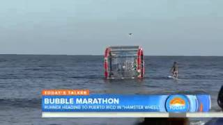 'Bubble man' to run from Florida to Caribbean in 'floating hamster wheel'