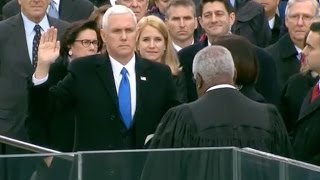 Mike Pence Takes Oath As Vice President Of The United States