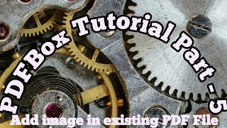 PDF box tutorial #5 | Add or insert image in existing PDF file