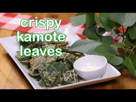 Crispy Kamote Leaves