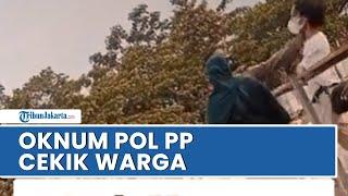 Viral di Media Sosial Video Oknum Satpol PP Terlibat Keributan dengan PKL di Stadion Pakansari