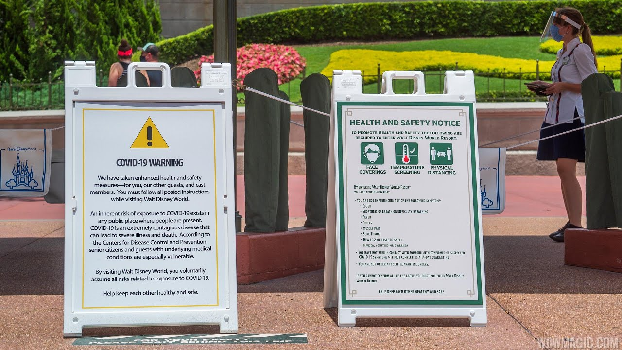 Magic Kingdom COVID-19 mask and spacing safety spiel