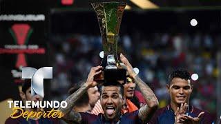 "El ""mensajito"" de Dani Alves a Lionel Messi | La Liga | Telemundo Deportes"