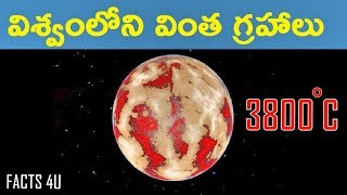 STRANGEST PLANETS IN SPACE IN TELUGU|FACTS 4U|MOST MYSTERIOUS PLANETS  IN THE UNIVERSE IN TELUGU