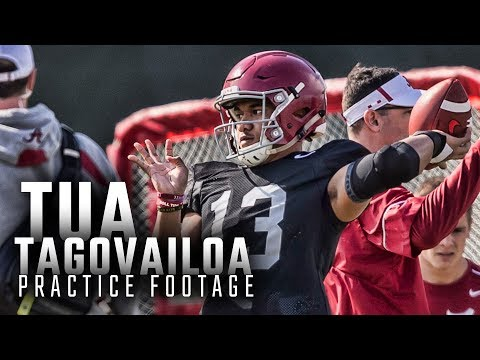 Watch Tua Tagovailoa throw during spring practice following hand injury