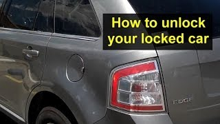 How to get in your locked car, after locking the keys inside, unlock your car without a key. - VOTD