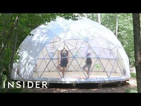 Camping in a Clear Dome in New York