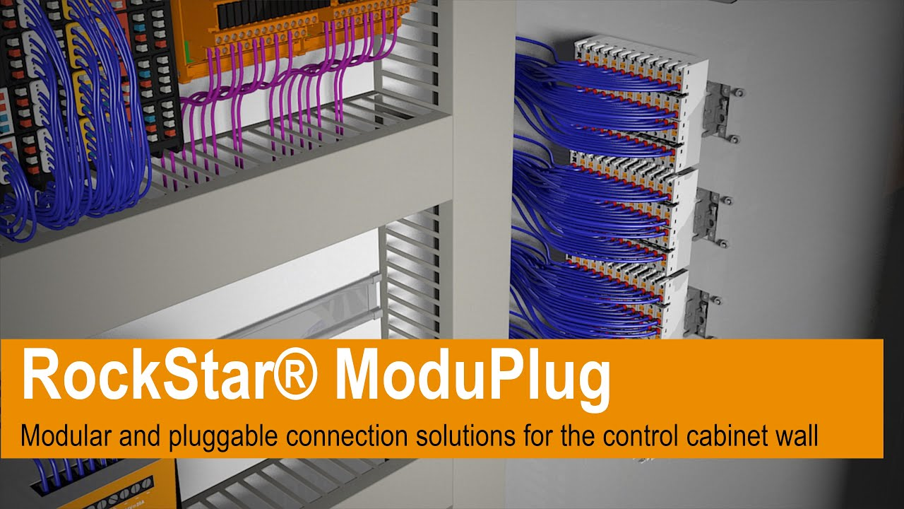 Space-saving and modular connection solutions for the control cabinet wall