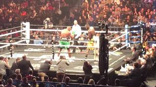 Louis Ortiz ALMOST STOPS Deontay Wilder (round 7) live inside the Barclays Arena #RealLifeBoxing