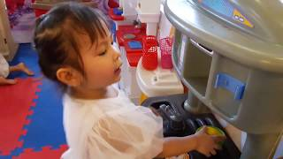 Đồ chơi nấu ăn bé gái 20 món, tôm cua cá mực, nồi chảo bếp, thìa dĩa... - Cooking toys (ben funnytv)