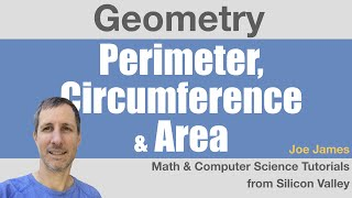 Geometry-6: Perimeter, Circumference & Area of Polygons and Circles