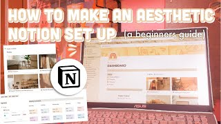 HOW TO MAKE AESTHETIC NOTION SET UP I  How I organize my notion set up (+ free template)