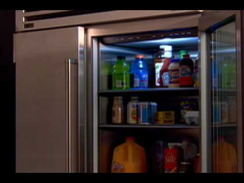 Sub-Zero Built In American Style Refrigeration ICB648PROG - Glass Door Video 3